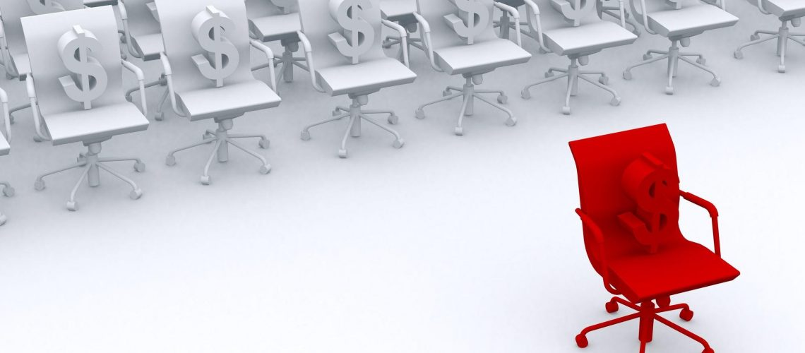 10693530 - red chair as leadership concept