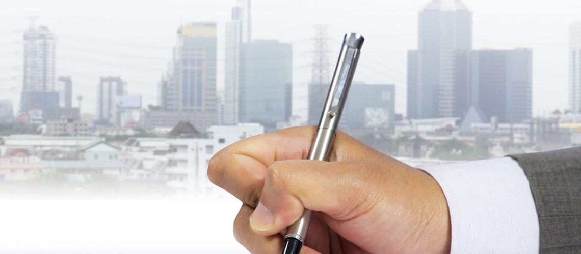 16255347 - businessman signing document
